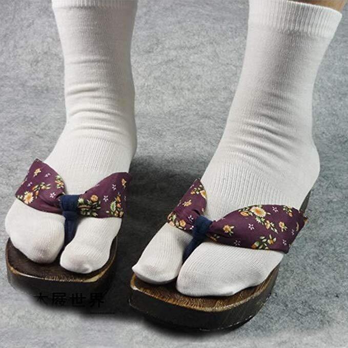 calze tabi giapponesi 2 dita infradito bianco - Onfuton